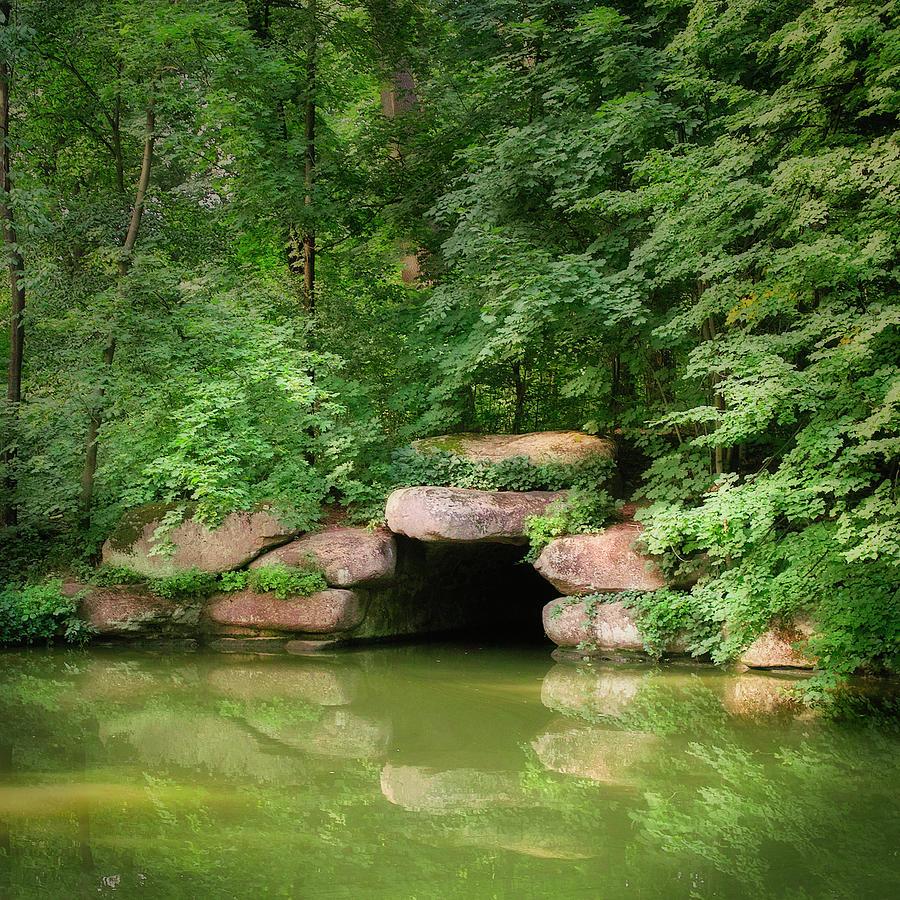 The secret grotto. Uman, 2010. by Andriy Maykovskyi
