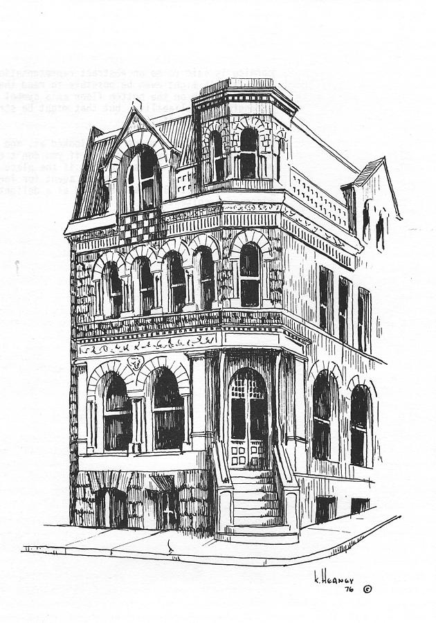 Architecture Drawing - The Securities Building Helena Montana by Kevin Heaney
