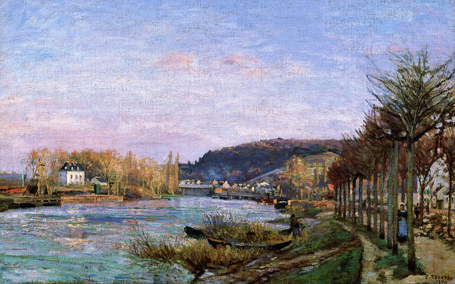 Camille Pissarro Painting - The Seine At Bougival - Digital Remastered Edition by Camille Pissarro