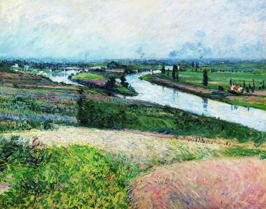 Gustave Caillebotte Painting - The Seine At The Pointe Depinay - Digital Remastered Edition by Gustave Caillebotte