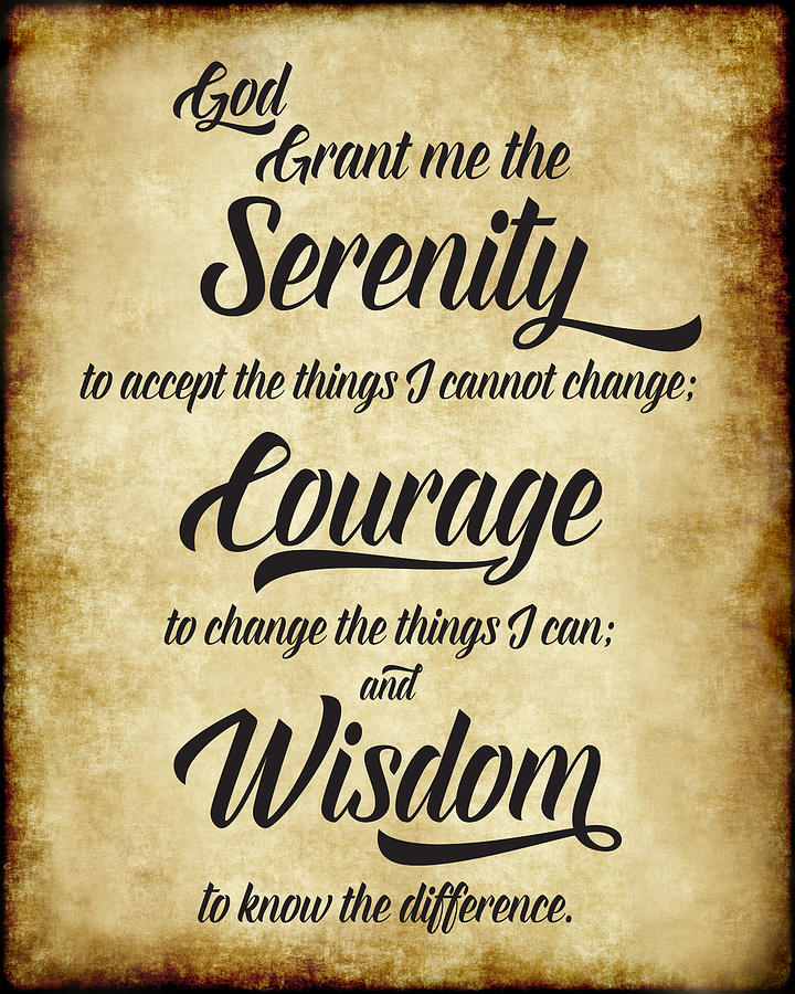 The Serenity Prayer - Antique Parchment by Ginny Gaura