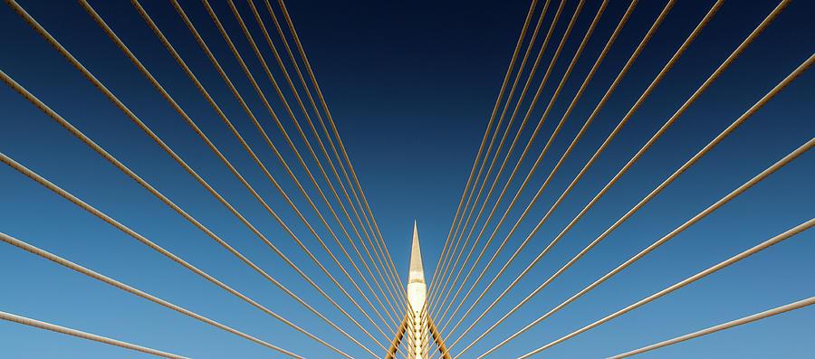The Seri Wawasan Bridge Photograph by Simonlong