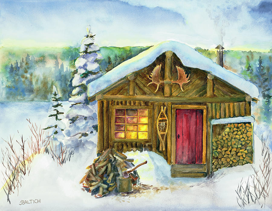 Winter Painting - The Shack by Joe Baltich