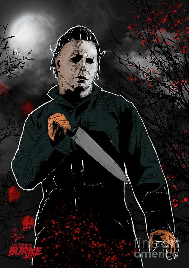 Halloween Digital Art - The Shape Cometh - Michael Myers by Joseph Burke