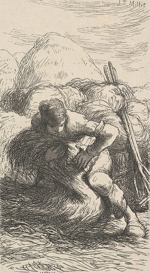 The Sheaf Binder by Jean-Francois Millet