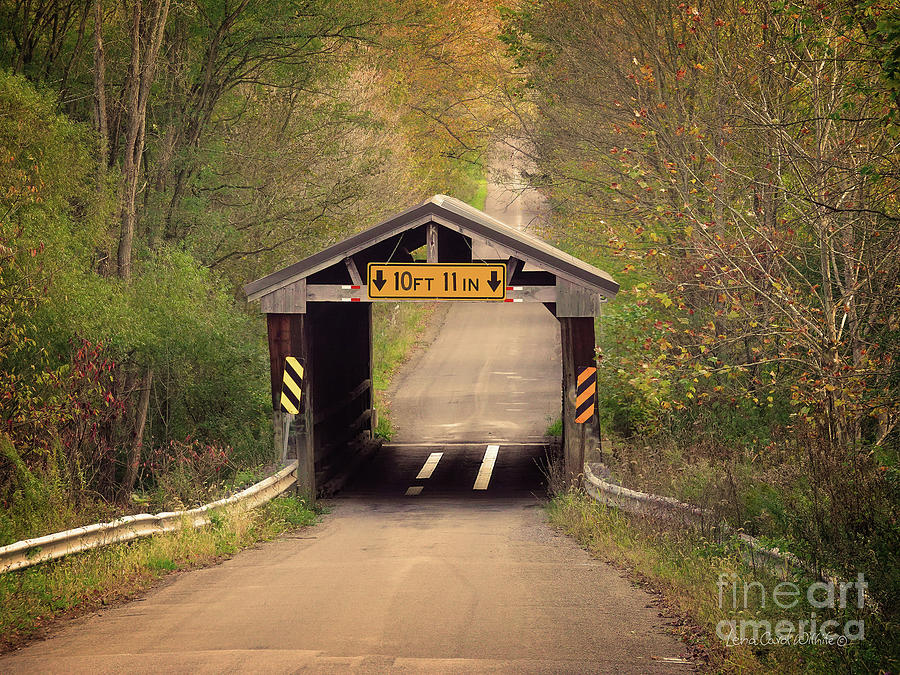 The Sherman Covered Bridge in PA by Lena Wilhite