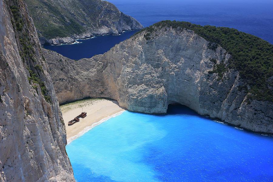 Greece Photograph - The Shipwreck Beach Zakynthos Greece by Ivan Pendjakov