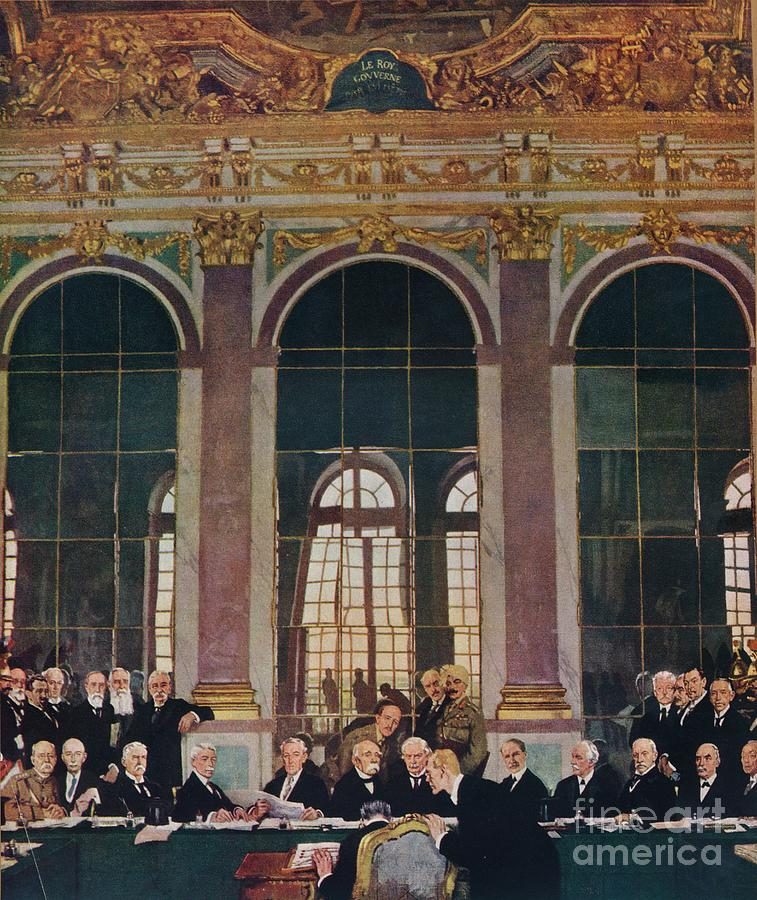 The Signing Of Peace In The Hall Drawing by Print Collector