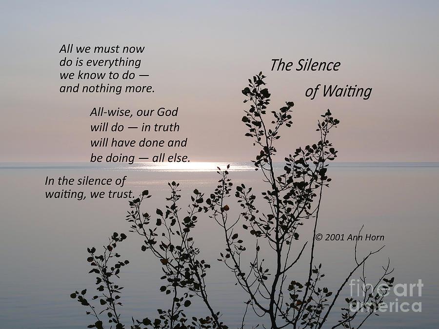 The Silence of Waiting by Ann Horn