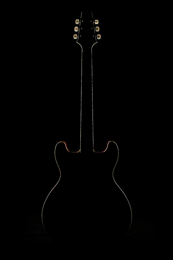 The Silhouette Of The Electric Guitar Photograph by Yagi Studio