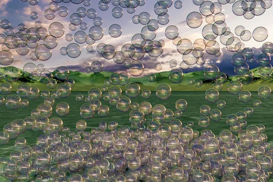 Bubble Digital Art - The Simplicity Of Bubbles  by Betsy Knapp