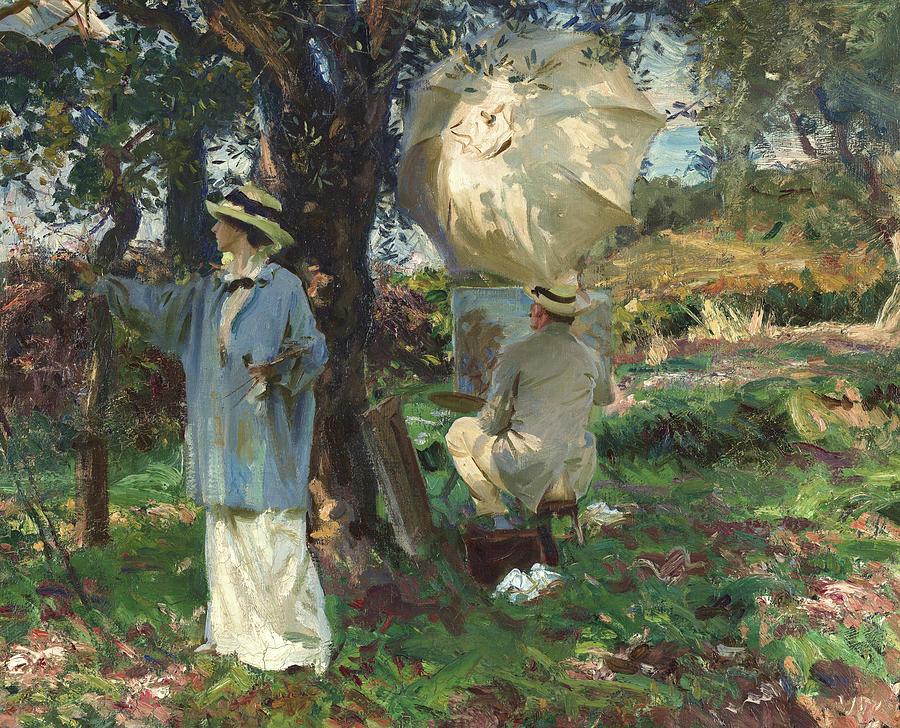 John Singer Sargent Painting - The Sketchers, 1913 by John Singer Sargent