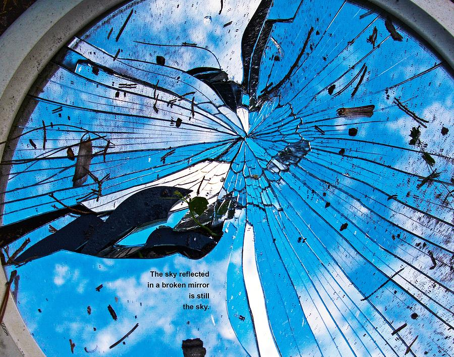 The Sky Reflected in a Broken Mirror, 1 by Gerald Grow