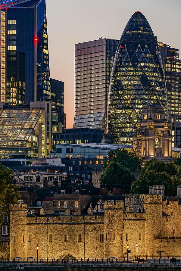 The Skyline Of London Seen At Blue Hour Photograph