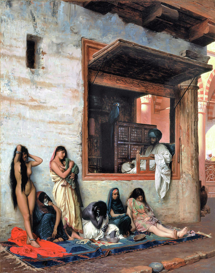 Jean Leon Gerome Painting - The Slave Market - Digital Remastered Edition by Jean-Leon Gerome