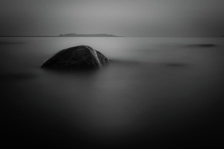 Abstract Photograph - The Sleeping Gient From Snady Beach Bw Long Expo by Jakub Sisak