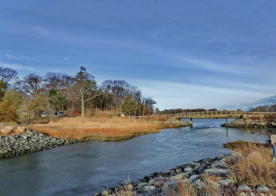 The Small Bridge Leading to the World's End in Hingham, MA by Lyuba Filatova