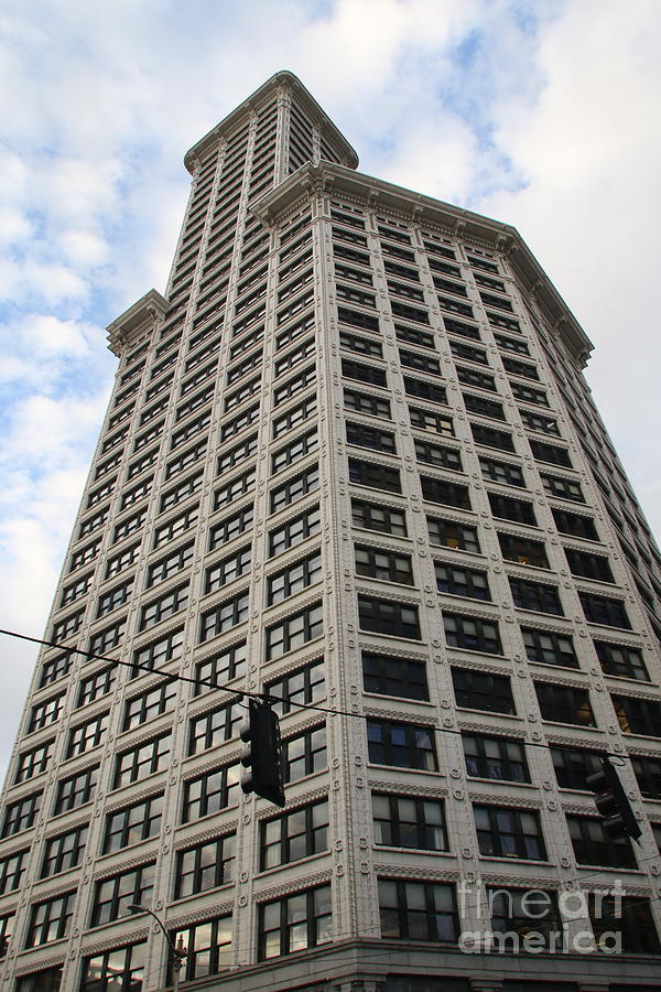 The Smith Tower, located in Pioneer Square, is the oldest skyscraper in Seattle. by Mr Pat Hathaway Archives