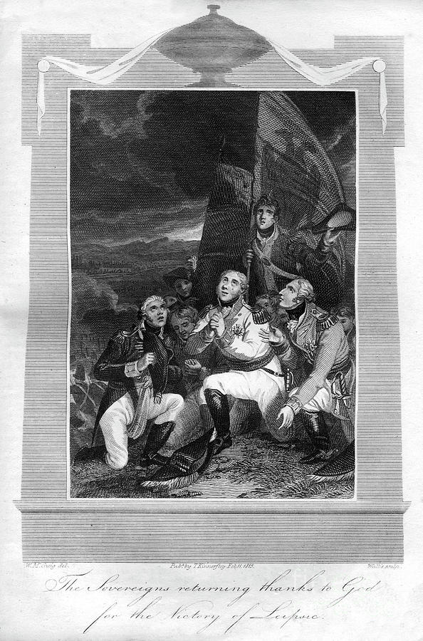 The Sovereigns Returning Thanks To God Drawing by Print Collector