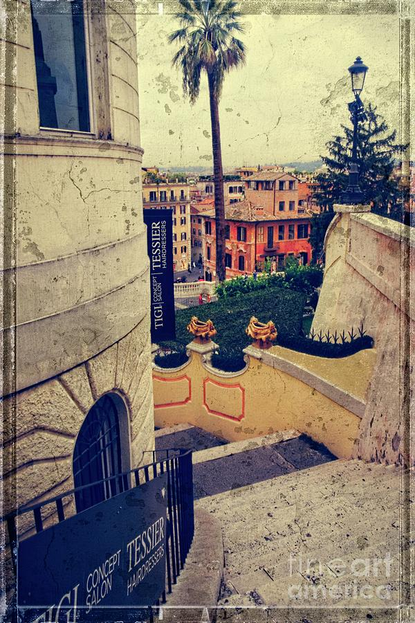 Spanish Steps Photograph - The Spanish Side Steps  by Mary Machare
