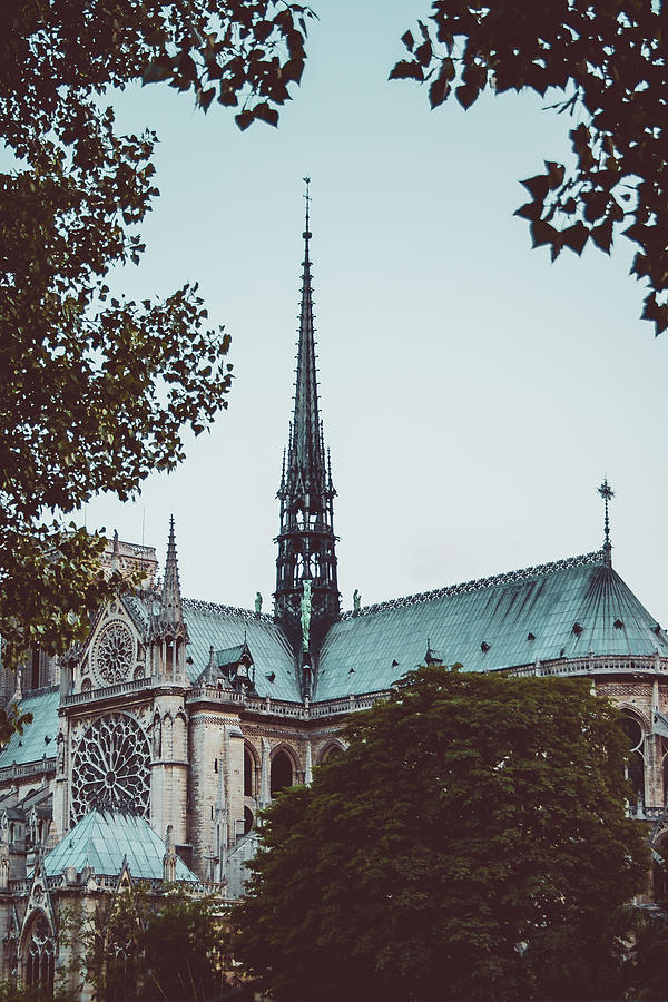 Notre Dame Photograph - The Spire - Cathedral Of Notre Dame Paris France by Harmeet Gabha