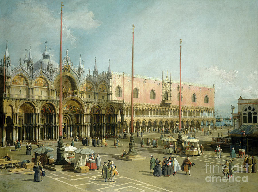 Venice Painting - The Square Of Saint Marks, Venice By Canaletto by Canaletto