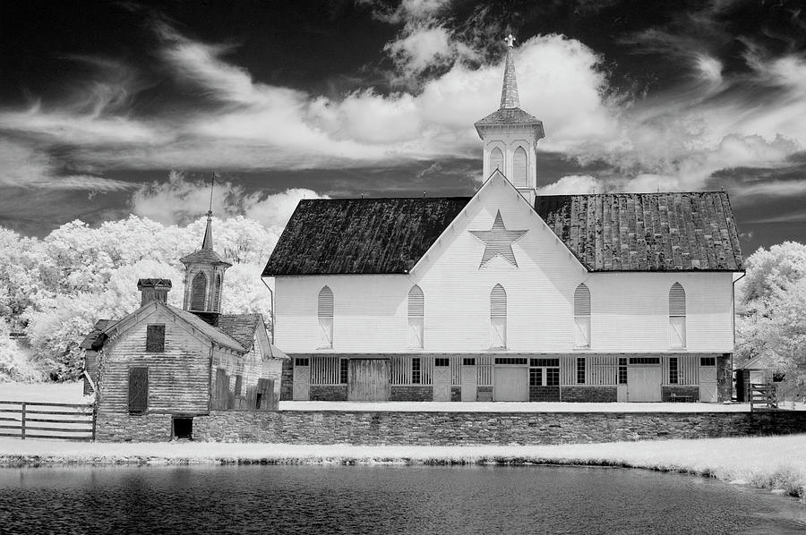 Infrared Photograph - The Star Barn In Infrared by Paul W Faust -  Impressions of Light