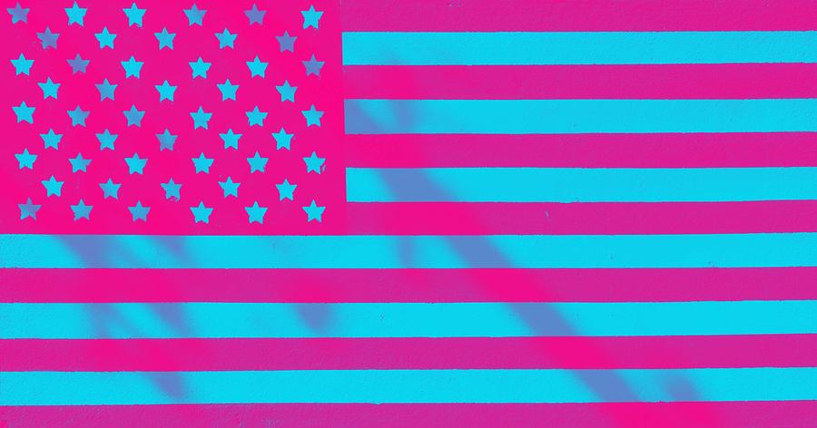 The Stars And Stripes, American Flag. Original Image From Carol M. Highsmith V3 Painting