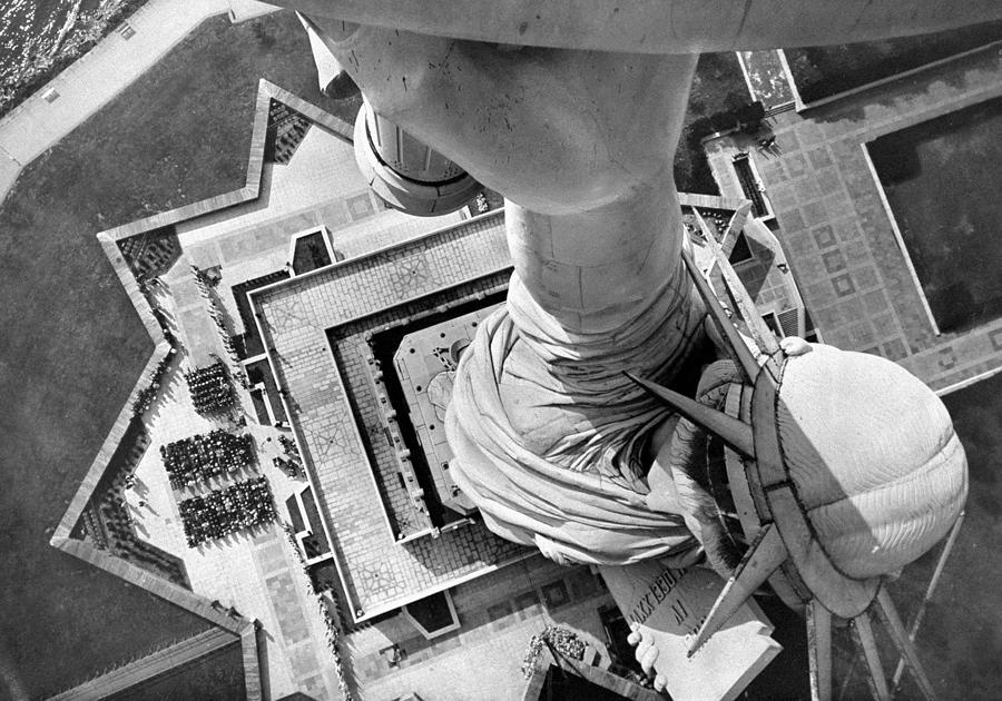 The Statue Of Liberty Still Holds High Photograph by New York Daily News Archive