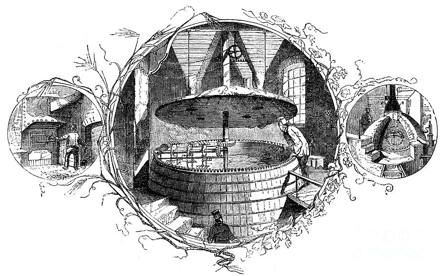 The Stoke-hole, The Mash Tun Drawing by Print Collector