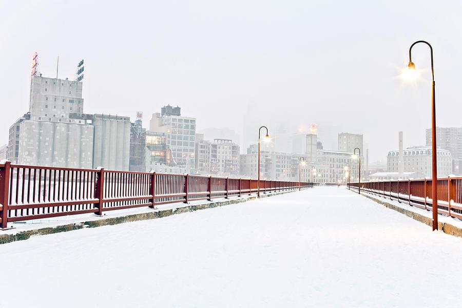 The Stone Arch Bridge In Minneapolis Photograph by Adam Hester