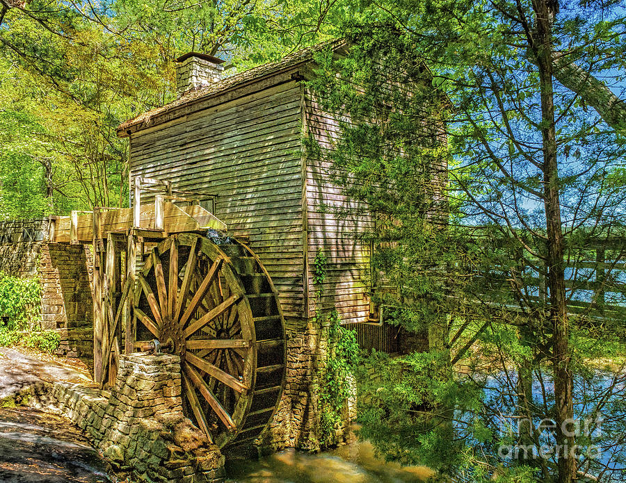 The Stone Mountain Grist Mill by Nick Zelinsky