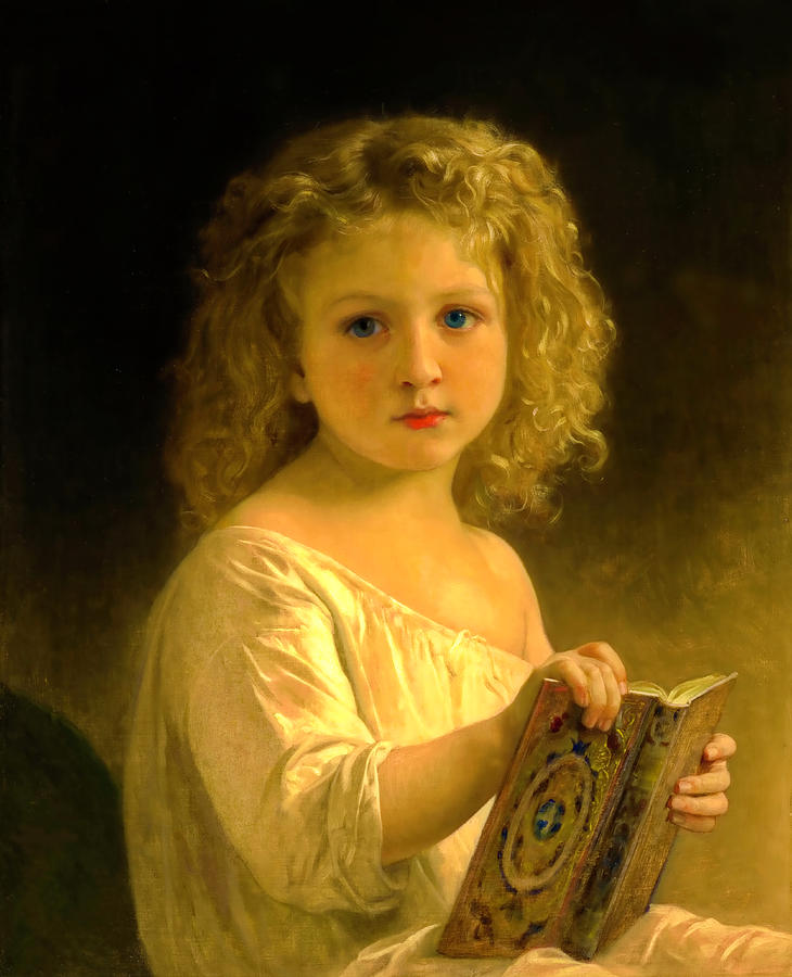 The Story Book Study by William Adolphe Bouguereau