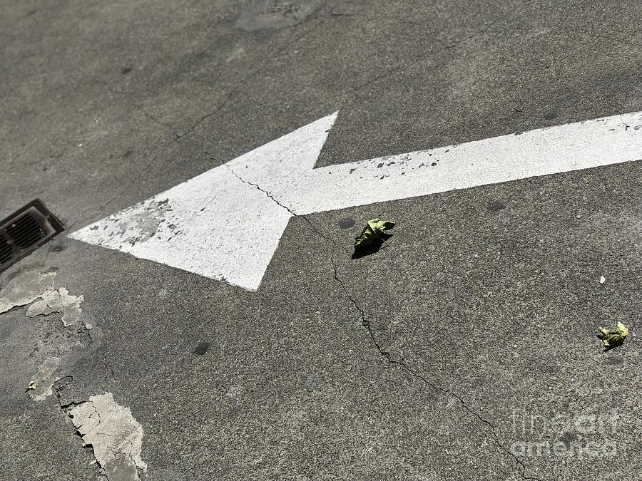 Pavement Digital Art - The Straight And Arrow by Sharon Green