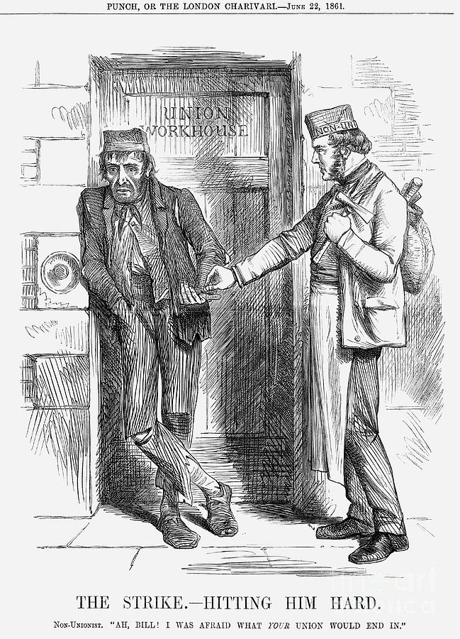 The Strike - Hitting Him Hard, 1861 Drawing by Print Collector