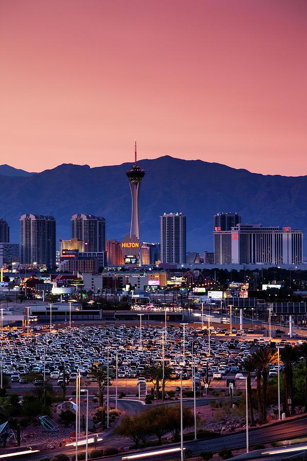 The Strip, Las Vegas Boulevard Photograph by Walter Bibikow