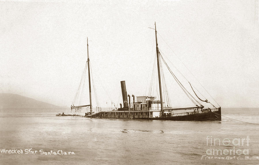 The submerged North Pacific steamship company's Sunta Clara 1910 by California Views Archives Mr Pat Hathaway Archives