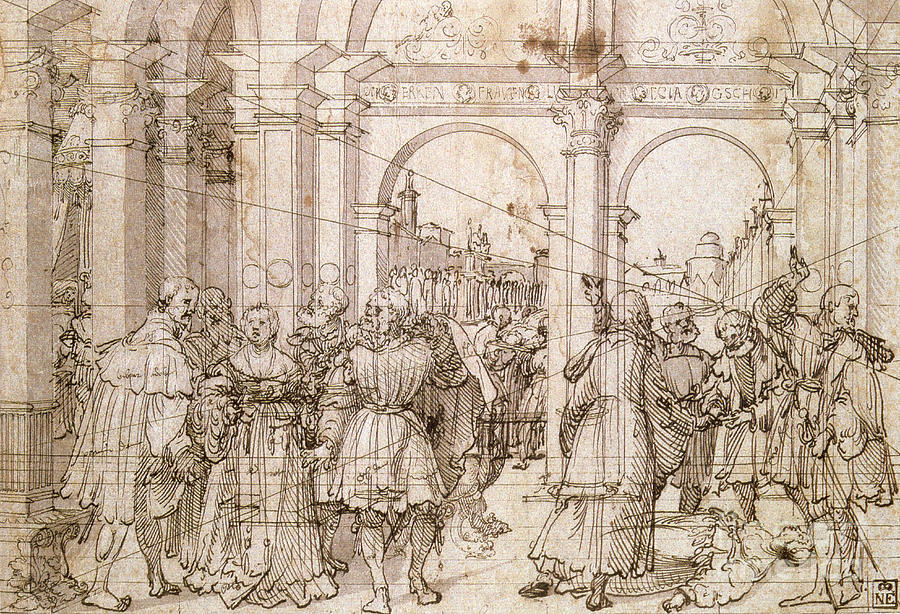 The Suicide Of Lucretia, Early 16th Drawing by Print Collector