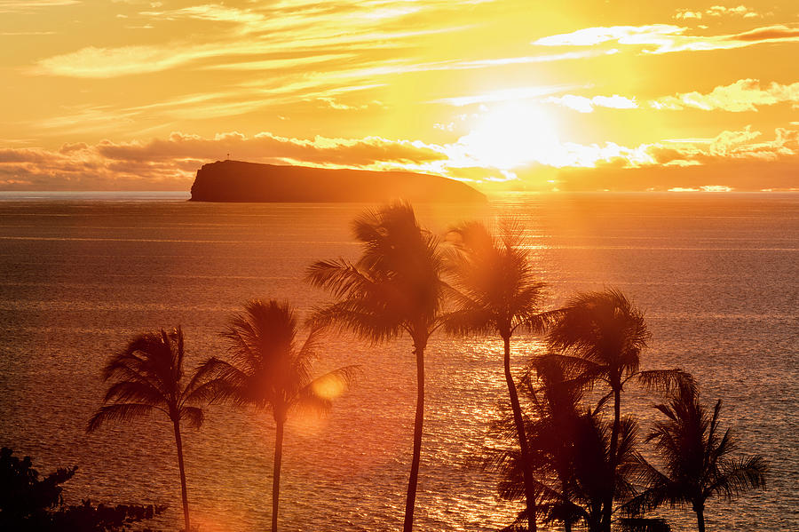 The Sun Sets Behind Molokini by Jenna Szerlag