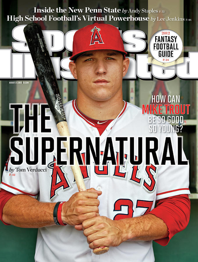 The Supernatural How Can Mike Trout Be So Good So Young Sports Illustrated Cover Photograph by Sports Illustrated