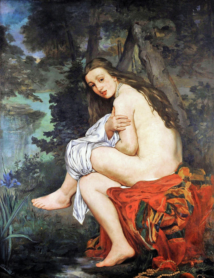 Edouard Manet Painting - The Surprise Nymph - Digital Remastered Edition by Edouard Manet