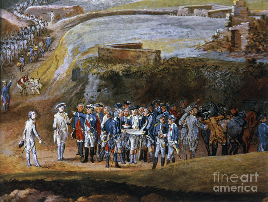 The Surrender Of Yorktown By Louis Photograph by Bettmann