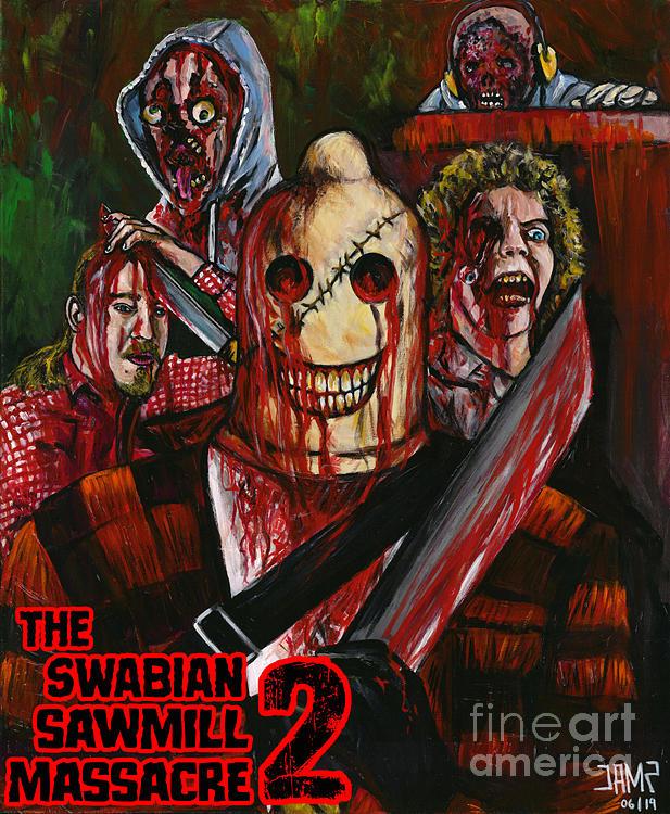 Gore Painting - The Swabian Sawmill Massacre 2 by Jose Mendez