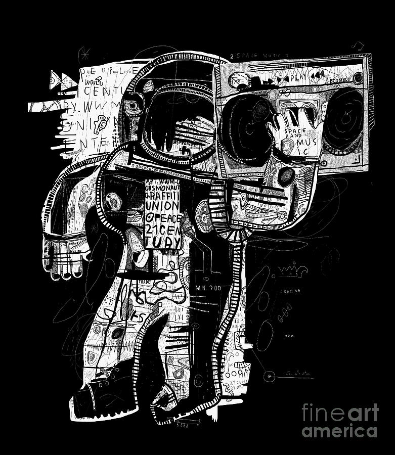 Electronics Digital Art - The Symbolic Image Of The Astronaut Who by Dmitriip