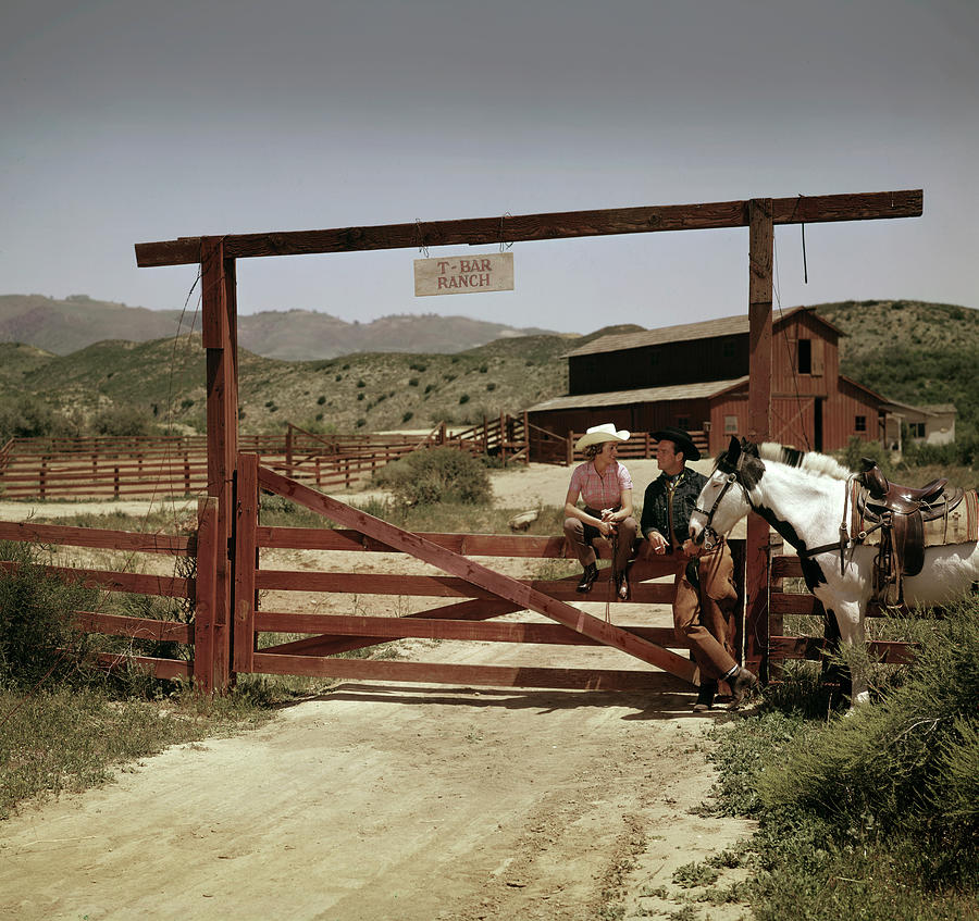 The T-bar Ranch Photograph by Tom Kelley Archive