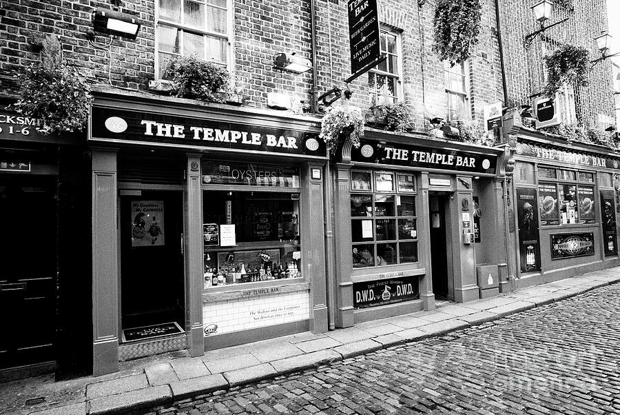 The Temple Bar Photograph - the temple bar pub Dublin Republic of Ireland Europe by Joe Fox