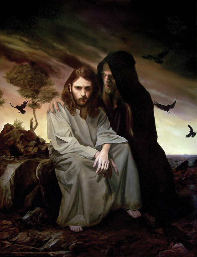 The Temptation of Christ Painting by Eric  Armusik