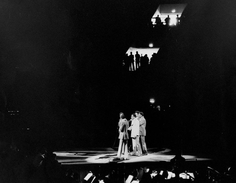 The Temptations Performing At Madison Photograph by New York Daily News Archive