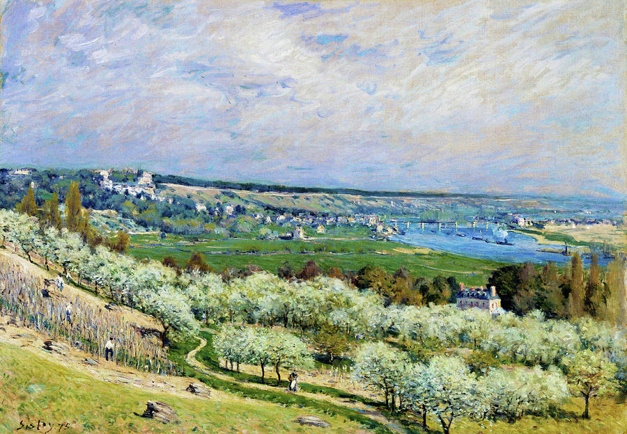 Alfred Sisley Painting - The Terrace At Saint - Digital Remastered Edition by Alfred Sisley