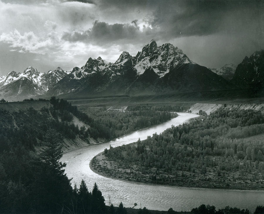 The Tetons - Snake River Photograph by Archive Photos